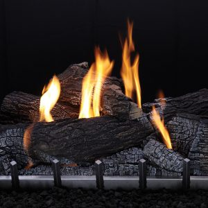 gas fire logs and flames